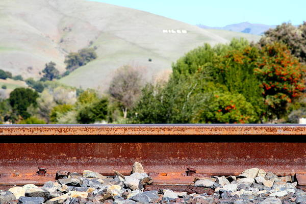 Wing Back Photograph - Railroad Track In Fremont California Near Historic Niles District In California . 7d12676 by Wingsdomain Art and Photography