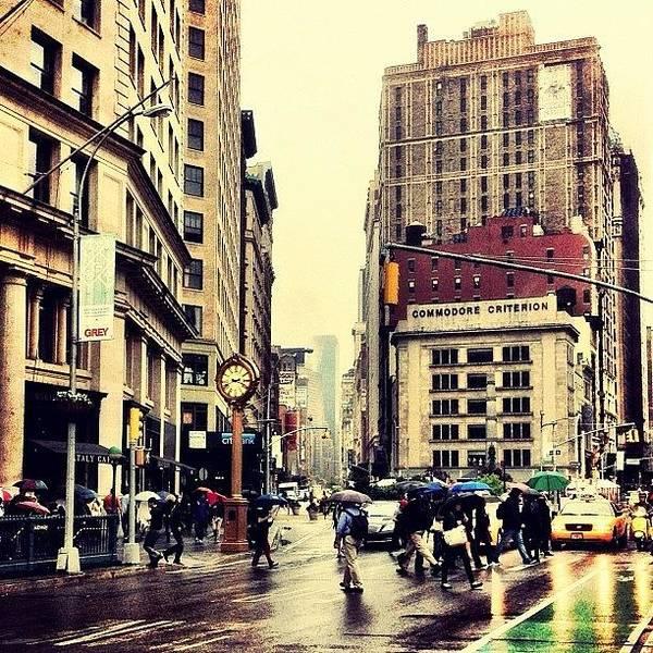 Wall Art - Photograph - Rain - Flatiron District - New York City by Vivienne Gucwa