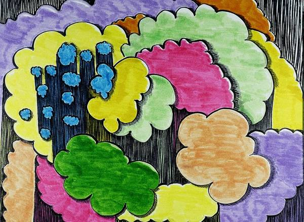 Drawing - Rain Clouds by Lesa Weller