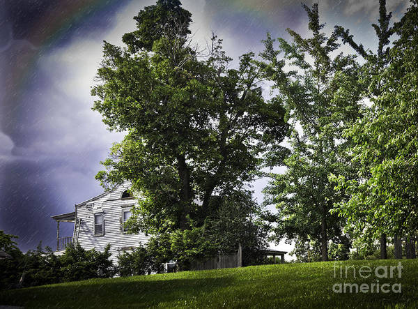 Houses Wall Art - Photograph - Rain On The Hill by Madeline Ellis