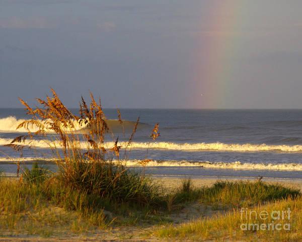 Rainbow - Saint Augustine Beach Art Print by Jon Hartman