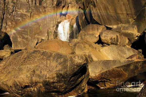 Photograph - Rainbow At Bridal Veil by Adam Jewell