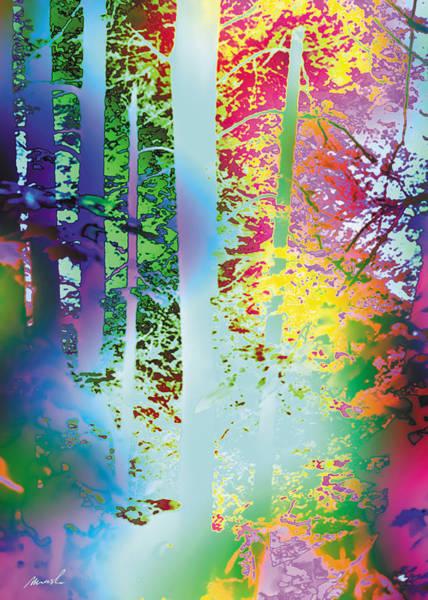 Rainbow Forest Art Print by The Art of Marsha Charlebois