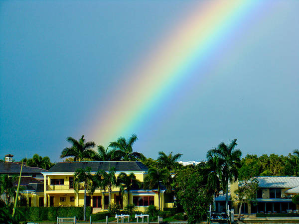Port Of Tampa Wall Art - Photograph - Rainbow In Naples by Dennis Dugan