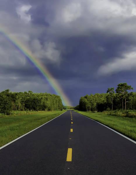 Blye Photograph - Rainbow On Canoe Creek Road by Kenneth Blye