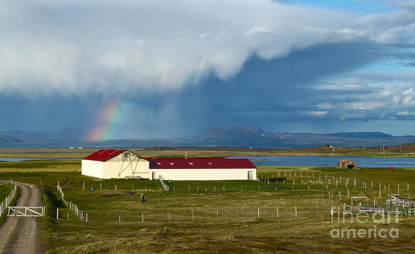 Photograph - Rainbow Over Iceland by Gregory Dyer