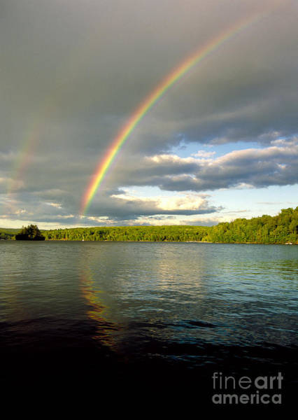 Photograph - Rainbow Over Lake Wallenpaupack by Michael P Godomski and Photo Researchers