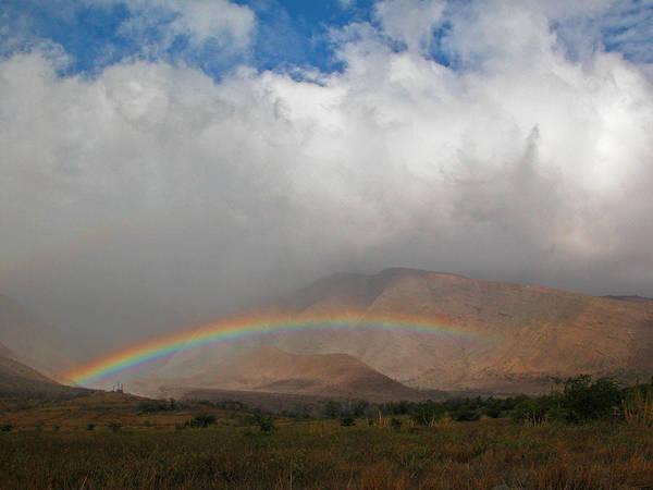 Photograph - Rainbow Over West Maui Mountains by Lynn Bauer