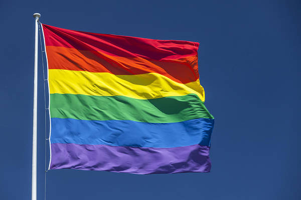 Gay Pride Flag Photograph - Rainbow Pride Flag by Stuart Dee
