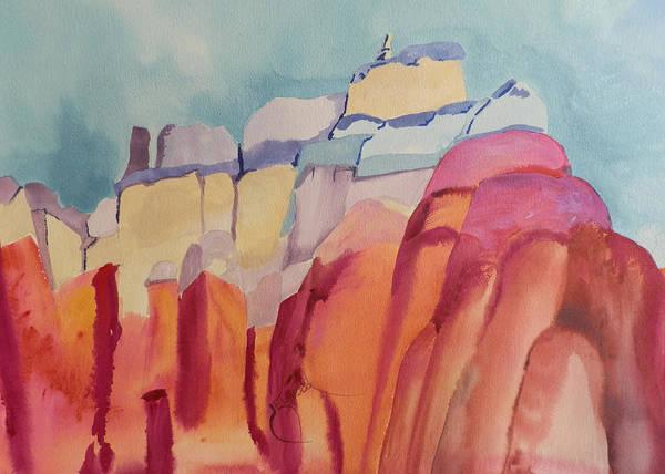 Elwood Blues Painting - Rainbow Rocks by Jann Elwood