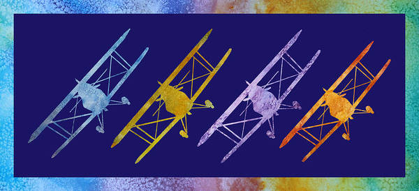 Aerobatics Wall Art - Digital Art - Rainbow Wing by Jenny Armitage