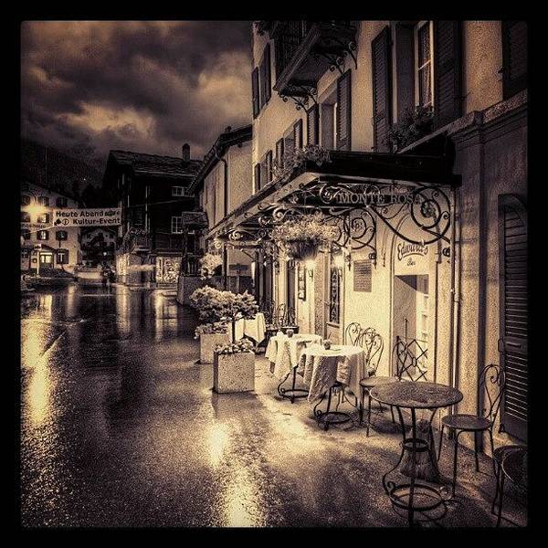 Wall Art - Photograph - #rainy #cafe #classic #old #classy #ig by Abdelrahman Alawwad