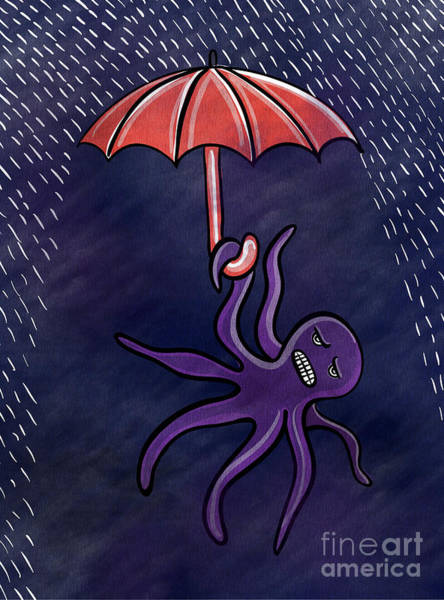Octopus Painting - Rainy Night by HD Connelly