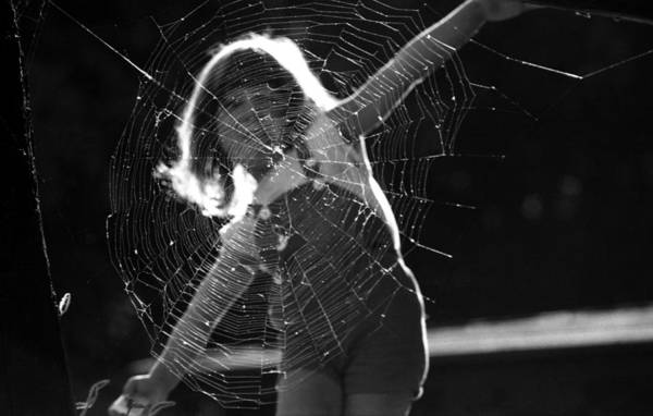 Photograph - Raluca And The Spiderweb IIi by Emanuel Tanjala