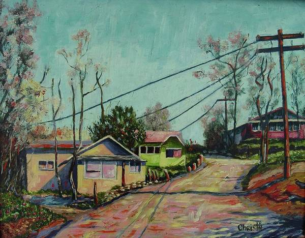 Neighborhood Painting - Ramona by Christie Michael