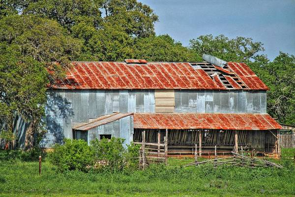 Photograph - Ramshackle Barn by Sarah Broadmeadow-Thomas