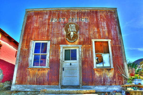 End Of The Trail Photograph - Randsburg Post Office by Bob Christopher