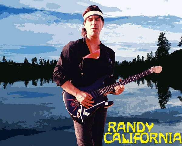 Photograph - Randy California At Amber Lake by Ben Upham