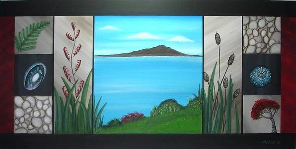 Devonport Wall Art - Painting - Rangitoto From Devonport by Astrid Rosemergy