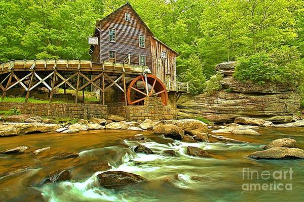 Photograph - Rapids Under The Grist Mill by Adam Jewell