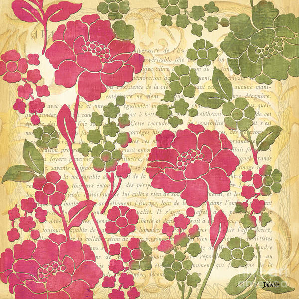 Stem Wall Art - Painting - Raspberry Sorbet Floral 1 by Debbie DeWitt