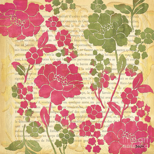 Stem Wall Art - Painting - Raspberry Sorbet Floral 2 by Debbie DeWitt