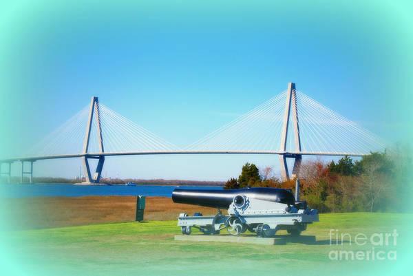 Photograph - Ravanel Bridge At Patriot Point Charleston Sc by Susanne Van Hulst