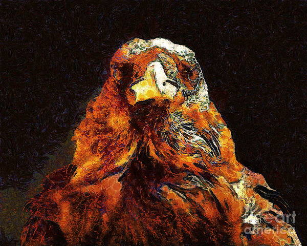 Photograph - Raven In Van Gogh.s Dream . 40d9097 by Wingsdomain Art and Photography