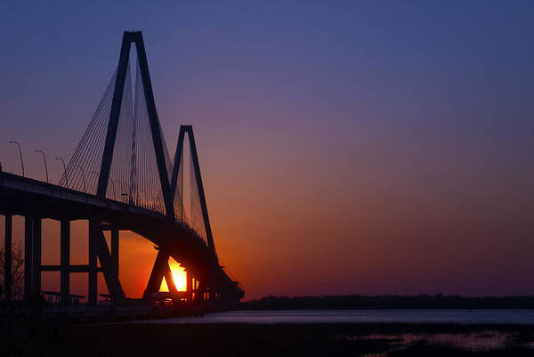 Wall Art - Photograph - Ravenel Bridge At Sunset by Pat Exum