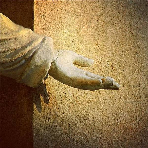 Religious Wall Art - Photograph - Reach Out Touch Faith #hand #faith by A Rey