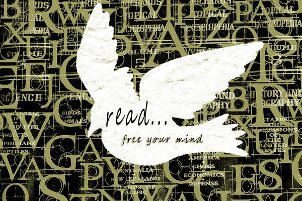 Mixed Media - Read Free Your Mind Avacado by Angelina Tamez