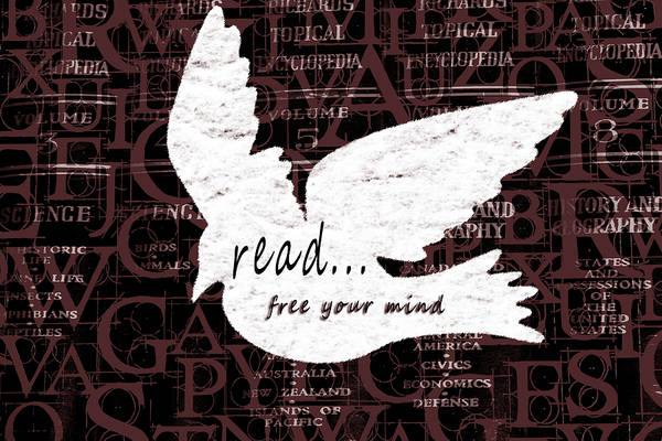 Mixed Media - Read Free Your Mind Brick by Angelina Tamez