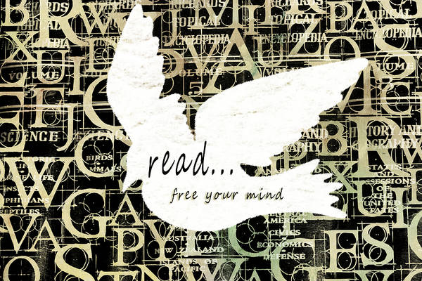 Mixed Media - Read Free Your Mind Ivory by Angelina Tamez