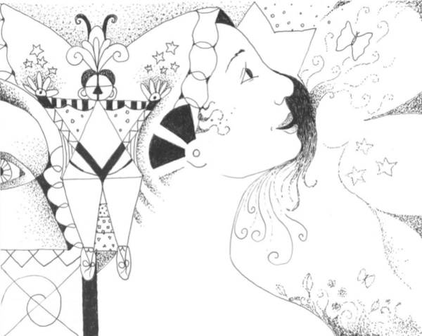 Organic Abstraction Drawing - Recalling Dreams by Helena Tiainen
