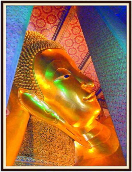 Reclining Buddha Art Print by Satya Winkelman