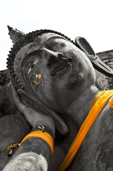 Photograph - Reclining Buddha Thailand  by U Schade