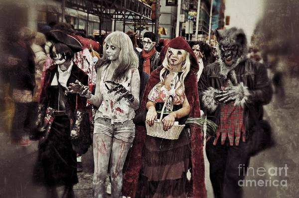 The Undead Photograph - Red And Her Crew  by Andrea Kollo