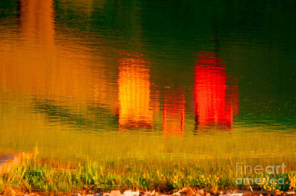 Photograph - Red And Orange Chairs by Les Palenik