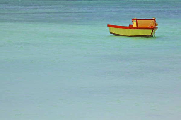 Photograph - Red And Yellow Fishing Boat Of The Caribbean by David Letts