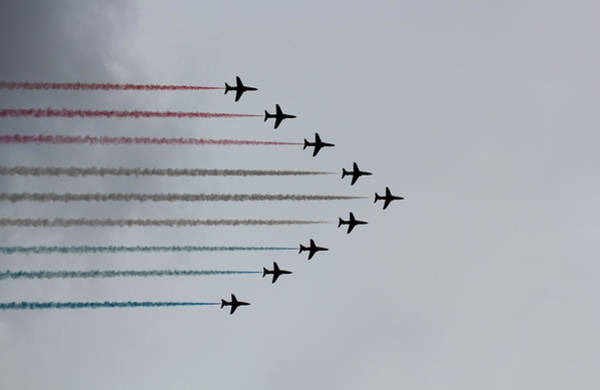 Red Arrows Photograph - Red Arrows Horizontal by Jasna Buncic