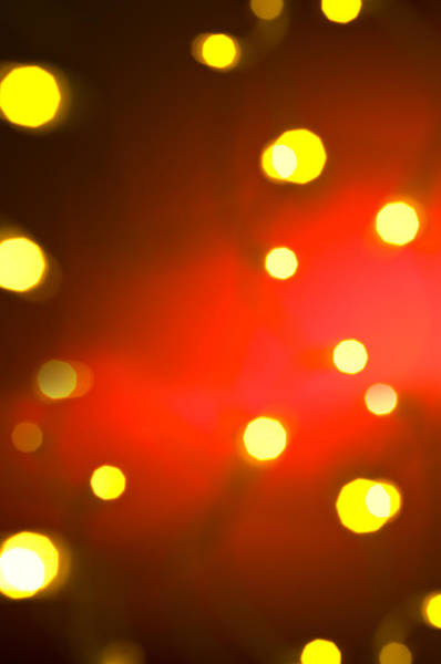 Photograph - Red Background With Gold Dots by U Schade