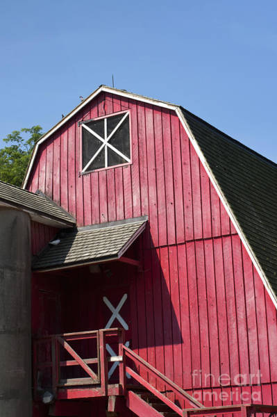 Wood Siding Wall Art - Photograph - Red Barn by Blink Images