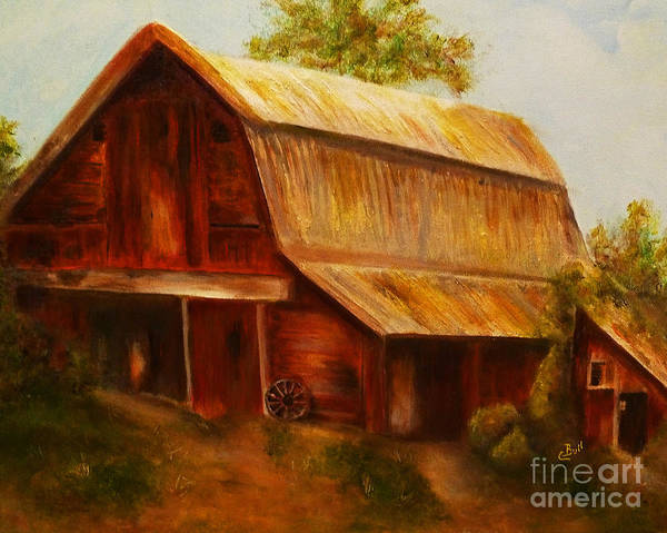 Painting - Red Barn by Claire Bull