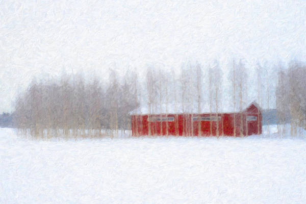 Photograph - Red Barn In Winter by Ari Salmela