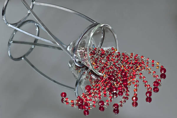 Photograph - Red Beads by Carolyn Marshall