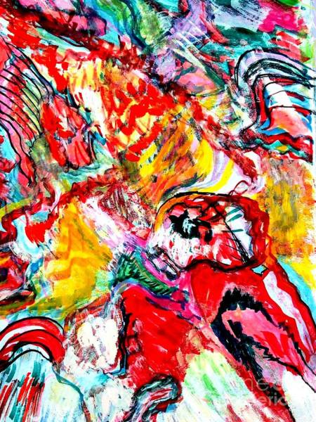Sax Drawing - Red Bird by Darlyne Sax