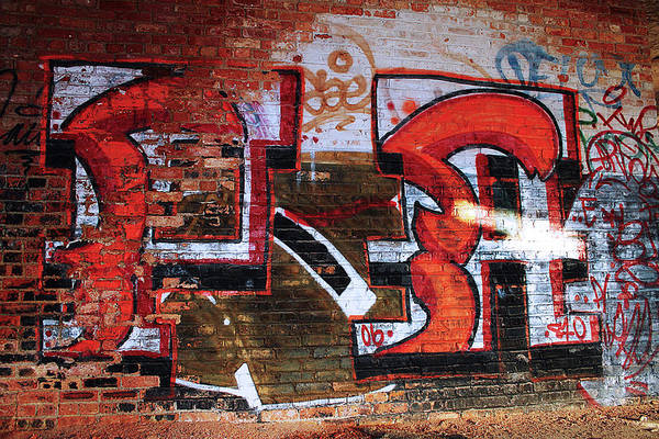 Photograph - Red Brick And Paint by Scott Hovind