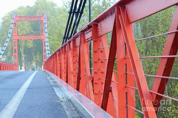 Wall Art - Photograph - Red Bridge Going To Poujol Sur Orb by Sami Sarkis