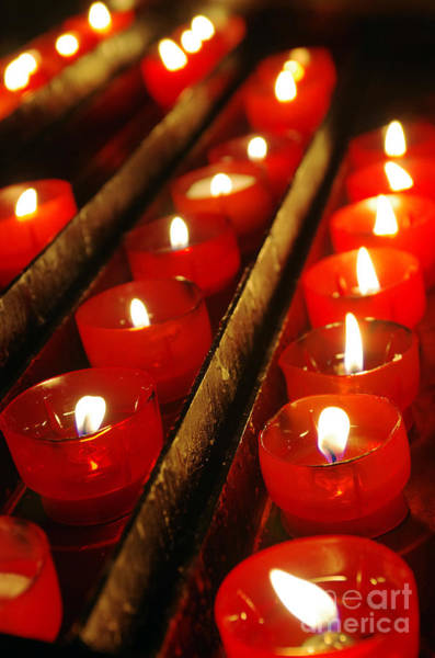 Joyous Photograph - Red Candles by Carlos Caetano