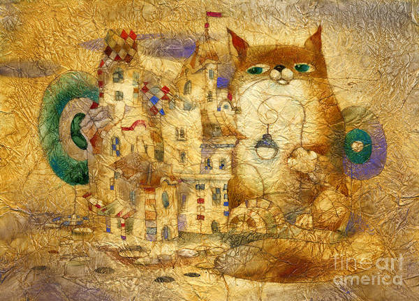 Wall Art - Mixed Media - Red Cat 2 by Svetlana and Sabir Gadghievs